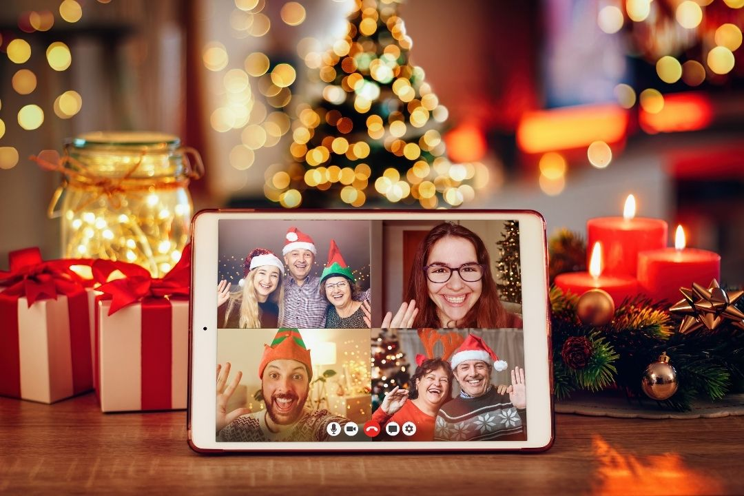 Celebrate virtual office Christmas party